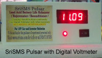 SriSMS Battery Pulsar / Life Saver / Life Enhancer / Rejuvenator with Digital Voltmeter from www.srisms.com
